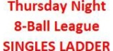 Rack-em-up Pool Hall & Bar - Thursday 8-Ball League Singles Ladder